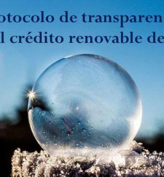 Protocolo de transparencia para el crédito renovable de Asnef